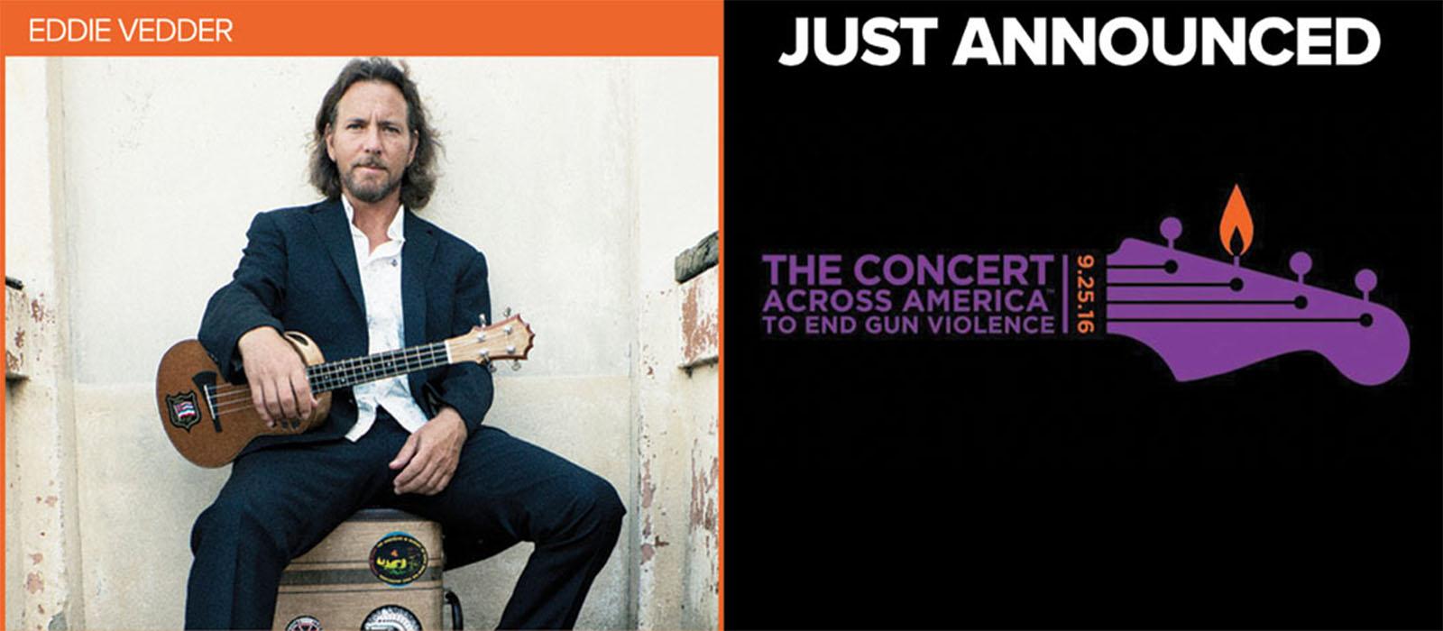 Pearl Jam - Eddie Vedder Joins Concert Across America to End Gun
