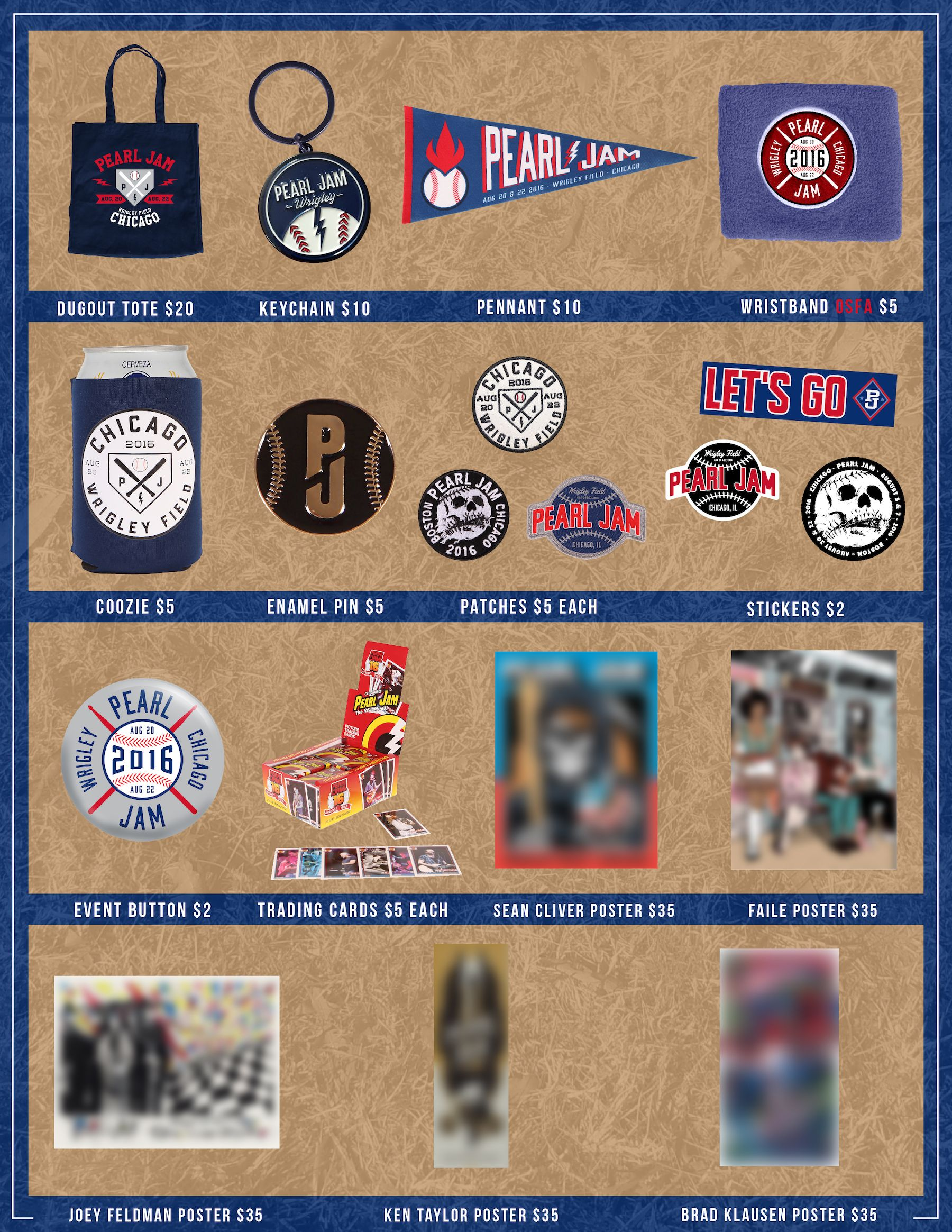 Wrigley Field Official Merch  Schedule Pearl Jam - Chicago map showing wrigley field