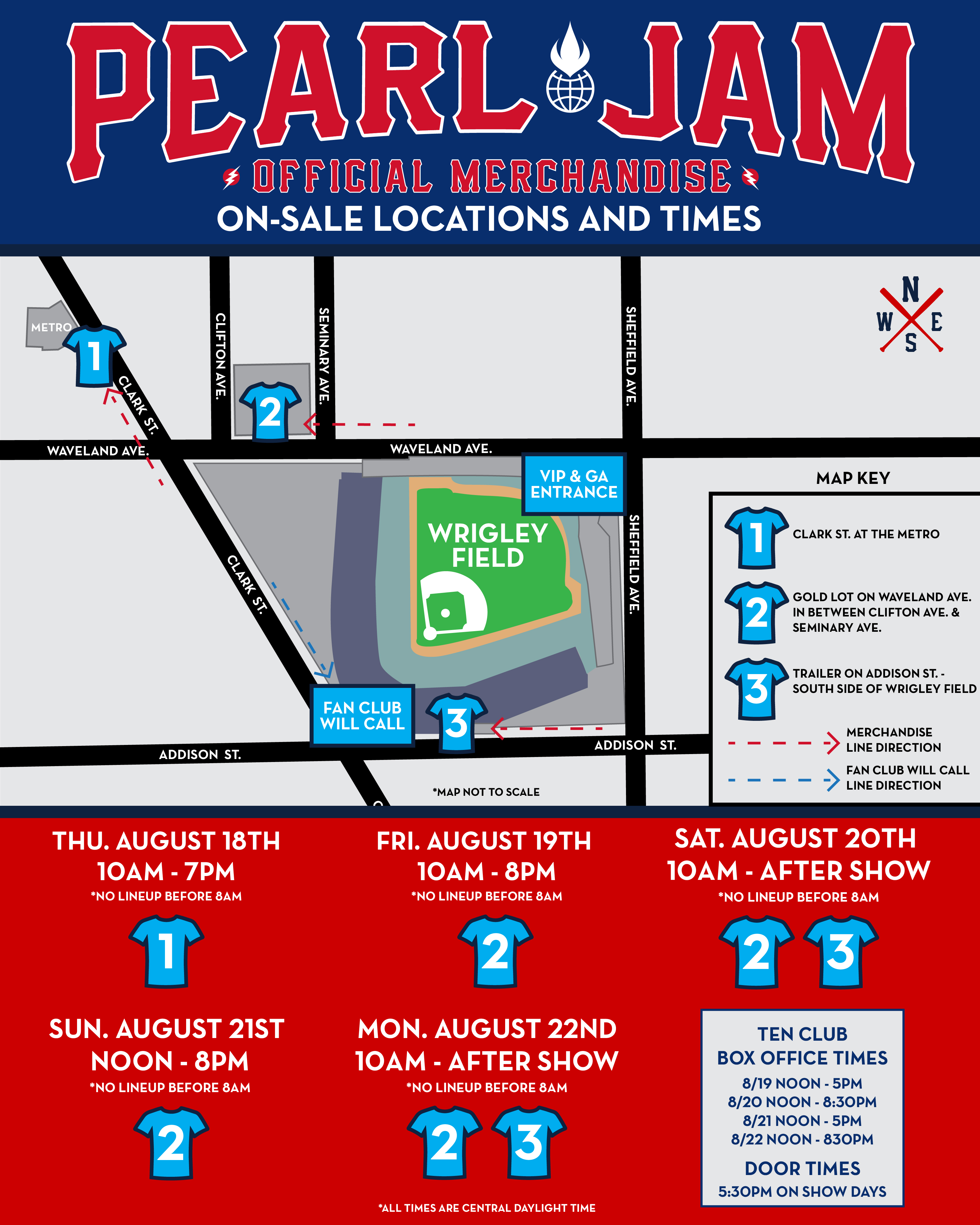 Chicago Subway Map Wrigley Field.Pearl Jam Wrigley Field Official Merch Schedule